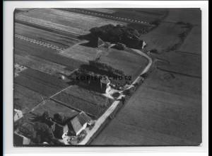 ZZ-1018/ Alkersum auf Föhr Foto seltenes Luftbild 1939 18 x 13 cm