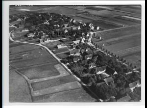 ZZ-1020/ Oldsum-Klintum auf Föhr Foto seltenes Luftbild 1939 18 x 13 cm