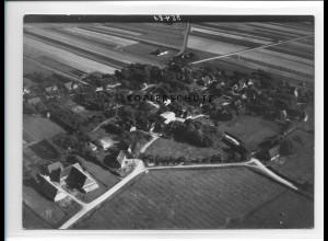 ZZ-1021/ Alkersum auf Föhr Foto seltenes Luftbild 1939 18 x 13 cm