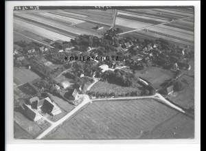 ZZ-5217/ Alkersum Föhr Foto seltenes Luftbild 18 x 13 cm 1939
