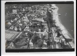 ZZ-1027/ Wyk auf Föhr Foto seltenes Luftbild 1939 18 x 13 cm