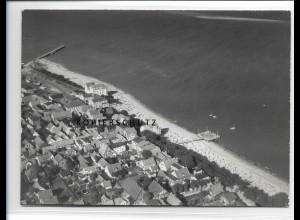 ZZ-1028/ Wyk auf Föhr Foto seltenes Luftbild 1939 18 x 13 cm