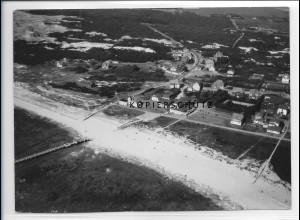 ZZ-1033/ St. Peter-Ording Foto seltenes Luftbild 1939 18 x 13 cm