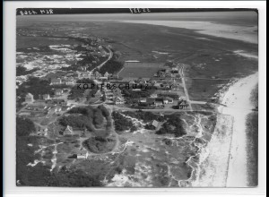 ZZ-1035/ St. Peter-Ording Foto seltenes Luftbild 1939 18 x 13 cm