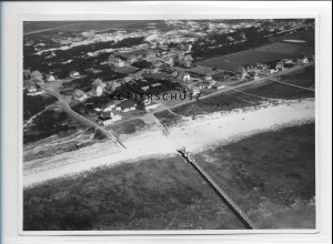 ZZ-1036/ St. Peter-Ording Foto seltenes Luftbild 1939 18 x 13 cm