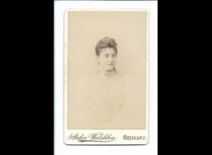Y16747/ CDV Foto junge Frau, Atelier E. Walsleben, Breslau 1895 Schlesien