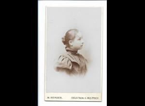 Y16749/ CDV Foto junge Frau, Atelier M. Herden Oels u. Militsch Schlesien 1897