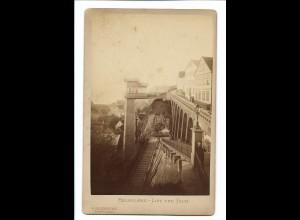 S2159/ Kabinettfoto Helgoland Lift und Falm Fotograf Friederichs ca.1890