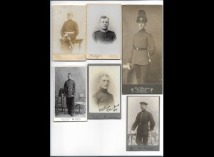 S2383/ 13 x CDV Foto Soldaten Militär ca.1900-12