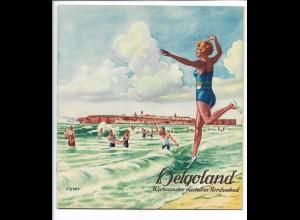 S2411/ Führer durch Helgoland 22 Seiten mit Abbildungen 1930