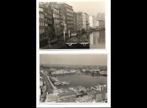 C3356/ 3 x Foto Hamburg 17,5 x 12,5 cm 50er Jahre