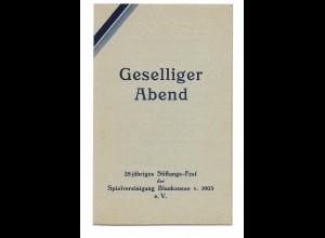 U9857/ Hamburg Spielvereinigung Blankenese 28. Stiftungs-Fest Klappkarte ca.1935