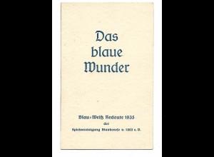 """U9856/ Hamburg """"Das blaue Wunder"""" Spielvereinigung Blankenese Klappkarte 1935"""