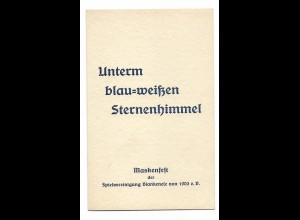 U9855/ Hamburg Maskenfest Spielvereinigung Blankenese 1934 Klappkarte