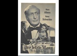 C3382/ Filmprogramm Der letzte Mann Hans Albers Romy Schneider