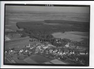 ZZ-1268/ Autenried b. Ichenhausen Foto seltenes Luftbild ca.1938 18 x 13 cm