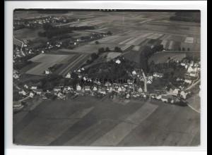 ZZ-1272/ Bühl b. Bibertal Foto seltenes Luftbild 1937 18 x 13 cm