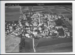 ZZ-1284/ Bergheim b. Dillingen Foto seltenes Luftbild 1938 18 x 13 cm