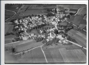 ZZ-1291/ Unterfinningen b. Finningen Foto seltenes Luftbild 1938 18 x 13 cm