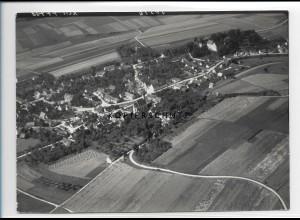 ZZ-1292/ Haunsheim Foto seltenes Luftbild 1938 18 x 13 cm