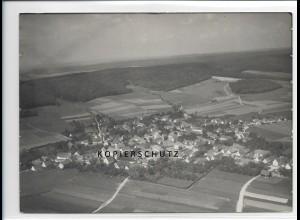 ZZ-1294/ Lutzingen Foto seltenes Luftbild 1934 18 x 13 cm