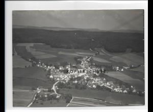 ZZ-1295/ Unterliezheim b. Lutzingen Foto seltenes Luftbild ca.1935 18 x 13 cm