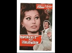 C3588/ Ill. Film-Kurier Filmprogramm Sophia Loren in Hochzeit auf italienisch