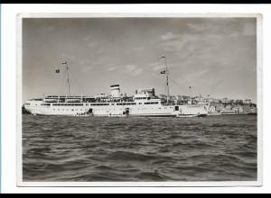 S2439/ Dampfer Königin Luise vor Helgoland F. Schensky Foto AK Seepost 1937