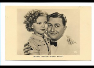 Y17358/ Shirley Temple und Robert Young schöne Ross Foto AK ca.1935