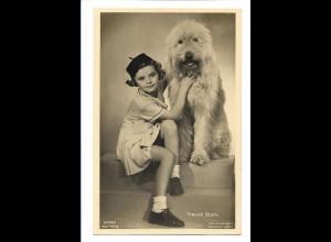 Y17362/ Traudl Stark mit Hund schöne Ross Foto AK 1937