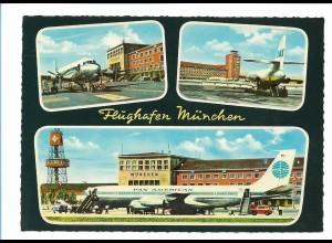 Y17374/ Flughafen München Flugzeug PAN AM AK ca. 1965