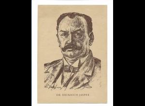 Y17383/ Dr. Heinrich Jasper Ministerpräsident im Lande Braunschweig AK ca. 1948