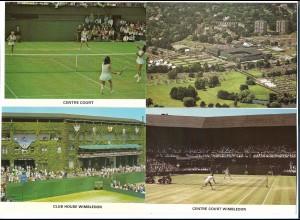Y17398/ 4 x AK Wimbledon London Tennis