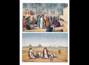 Y17402/ 2 x AK Ägypten Egypt Tuck`s Postcard 1910