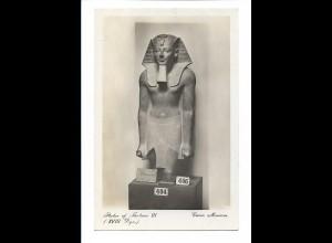 Y17403/ Statue of Thotmes III Kairo Museum Lehnert & Landrock Foto AK Ägypten