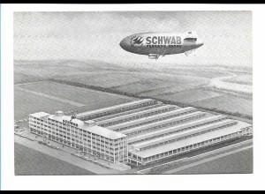 DP444/ Das Schwab Luftschiff Zeppelin Reklame AK 1961