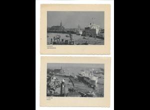 Y17415/ 2 x AK Hamburg Hafen KDF Dampfer 1940