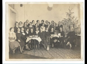 C3830/ Weihnachtsfeier Frauen Foto 24 x 18 cm ca.1935