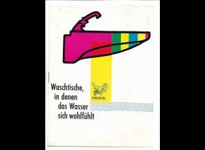 C3832/ Waschtische Steingutfabrik Schwarzwald Gmbh Hornberg Prospekt ca.1960-65