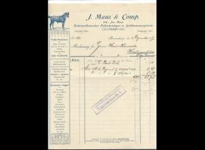 C3845/ Rechnung J. Mauz & Comp. Braunschweig Sattlerwarenfabrik 1907