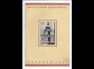 C3846/ Dresden Deutscher Sängertag 1940 Heft 16 Seiten
