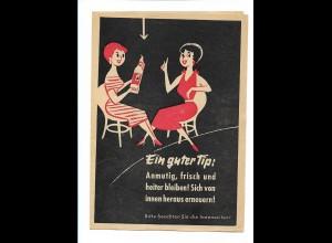 Y17418/ Doppelherz-Kur Werbung Faltblatt ca. 1955