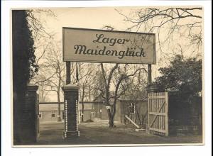Y17417/ Lager Maidenglück Foto ca.1938 16 x 11,5 cm Ort?