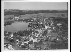 ZZ-1550/ Bad Waldsee Foto seltenes Luftbild ca. 1935 18 x 13 cm