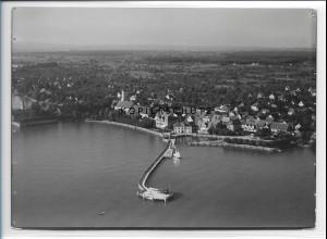 ZZ-1552/ Langenargen am Bodensee Foto seltenes Luftbild 1935 18 x 13 cm