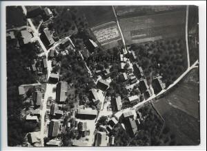 ZZ-1585/ Attenweiler b. Biberach Foto seltenes Luftbild 1937 18 x 13 cm