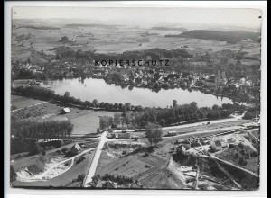 ZZ-1589/ Bad Waldsee Foto seltenes Luftbild 1935 18 x 13 cm