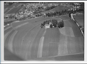 ZZ-1594/ Bad Wurzach Foto seltenes Luftbild 1938 18 x 13 cm