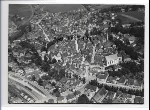 ZZ-1603/ Leutkirch Foto seltenes Luftbild 1937 18 x 13 cm