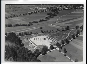 ZZ-1611/ Leutkirch Arbeitsdienstlager Foto seltenes Luftbild 1937 18 x 13 cm